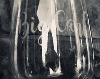 """Wine Glass- """"Big Carl"""""""