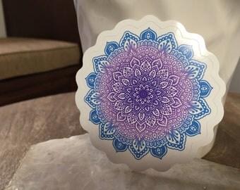 Purple Ombre Mandala, Sticker