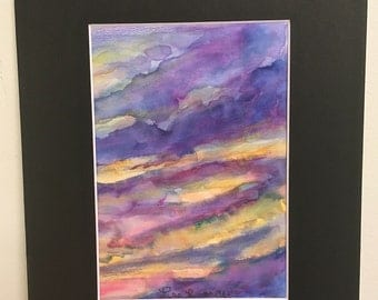 Sunset Watercolor 1