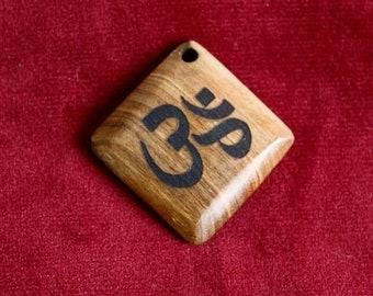 """Om"" Wenge wood Pendant"