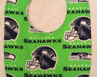 Green Seattle Seahawks Baby Bibs