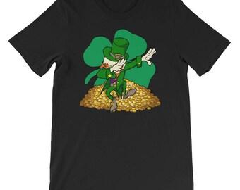 st patricks day shirt dabbing leprechaun tshirt