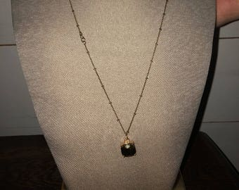 Long wrapped necklace with pendant