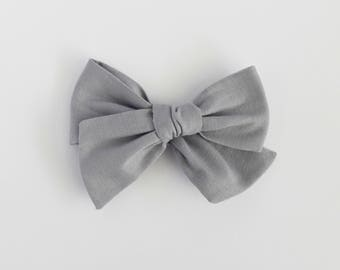 Dove // Pale Gray Handmade Alice Bow