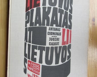 book  Lithuanian Poster    Soviet  USSR y 1971