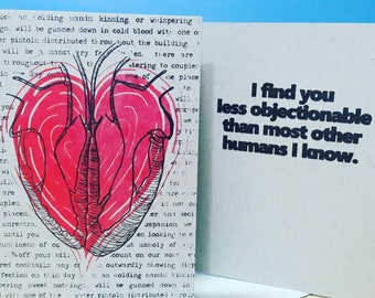 Unsentimantal Valentine:  I Find You Less Objectionable Than Most Other Humans I Know