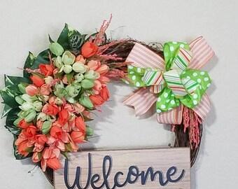 Grapevine Welcome wreath