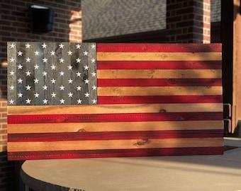 Rustic Cedar U.S. Flags