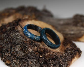 Blue beech wooden ring