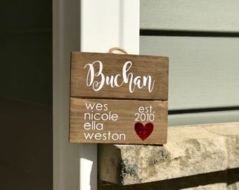Personalized Wooden Name Wall Hanger