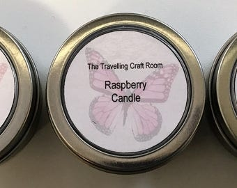 Set of three fragrant handmade candles