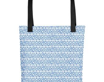 Little Boy Blue Diamond Tote Bag
