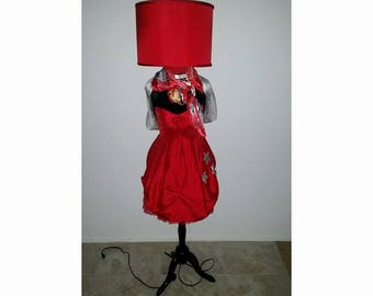 Lady in Red,floor lamps,mannequin floor lamps