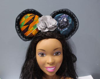 Black panther Inspired Mouse ears