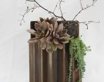 Wall Corrugated Steel Planter