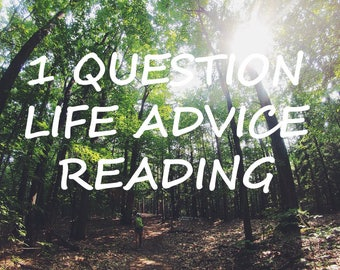 1 Question Life Advice Reading