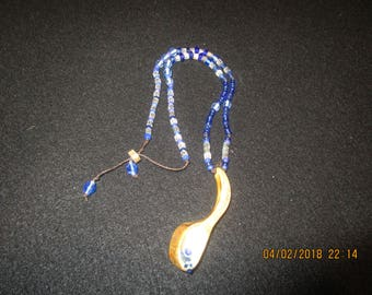 Beaded Necklace With Deer Antler Charm