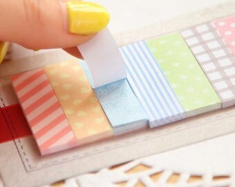Patterned Sticky Notes / Page Markers