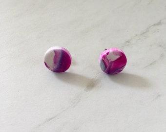Stud earrings - 'Christie' watercolour
