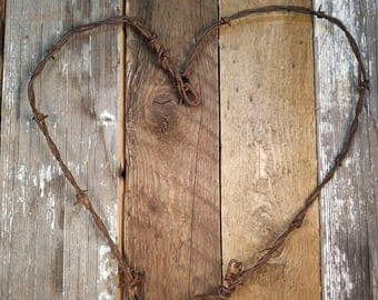 """Rustic Barbed Wire Heart 