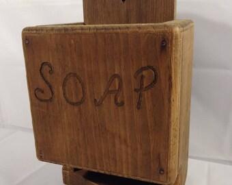 Vintage Wooden Soap Dish