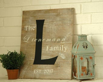 """Personalized Family Sign 22"""" x 18"""""""