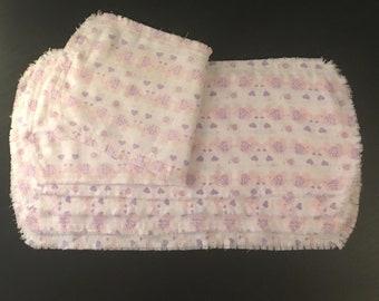 Pink Elephant Burp Cloths