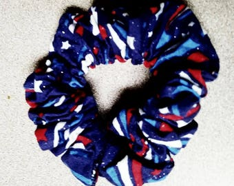 Hair Scrunchie - Patriotic Starbursts