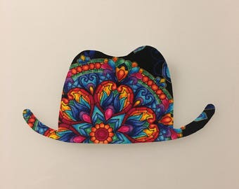 Stained Glass Hat Iron-on Patch
