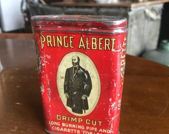 Prince Albert Crimp Cut Cigarette Tobaccoo Tin