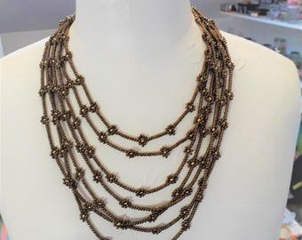flowers MULTISTRAND necklace