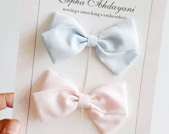 Baby bow, Baby Bow clip duo, Pastel baby hair clip, Toddler clip, Baby hair accessories