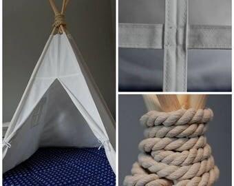 Teepee tent. Teepe set with floor mat. Tipi Marine style