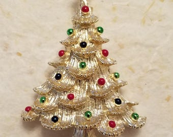 Vintage Gerry's Christmas Tree Pin - Excellent Condition