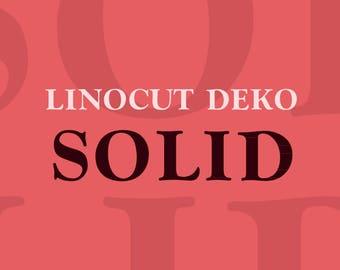 Linocut Deko Solid Font