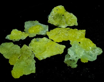 274.45 Unheated& Natural Yellow Brucite Mineral Specimen Lot