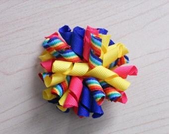 Rainbow Party Korker Hair Bow