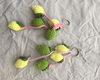 Crochet Keychain Fruits citrus