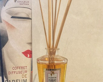 DIFFUSER FRAGRANCE flower cotton 100% handmade, luxury home fragrance - box scent with sticks made in france incense gift