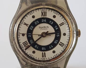 "Swatch Ladies' ""Kleiner Nougat"" Watch LM112 - Swiss Made 1996"
