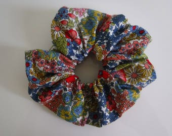 Multi Coloured Floral Hair Scrunchie