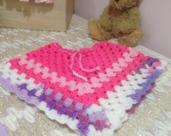 Baby Clothes Crochet Girls Poncho