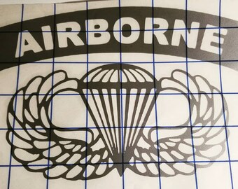 Airborne vinyl sticker