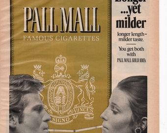 Pall Mall cigarettes Vintage Magazine Print Ad 1971