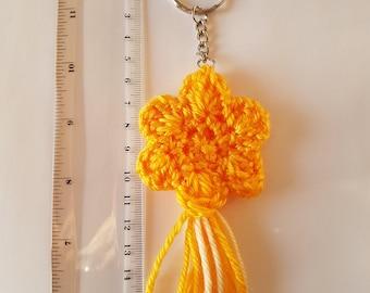 Yellow Starburst Keyrin / Handbag Tassel