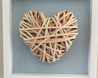 Natural Handmade Reed Heart