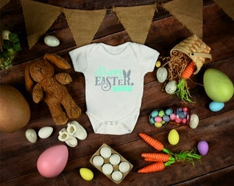 Happy Easter boys personalised vest