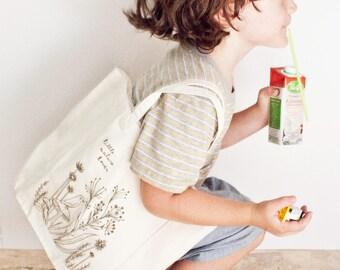 kindergarten tote bag, first day of kindergarten, back to school, preschool tote bag, library tote bag kids, kindergarten gift, toddler tote