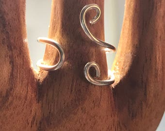 Sterling Silver Swirl Ring Size 8 - ALL PROFITS donated to the ACLU
