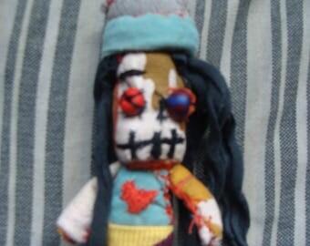 Halloween Rasta Zombie Horror Fabric Doll  Keychain